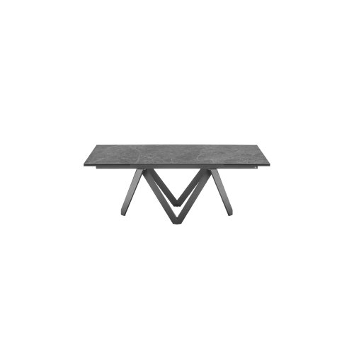 Cartesio: Extendable Geometric-Pedestal-Base Table