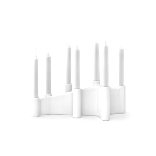 CS7176 CATHEDRAL Candle holder M2X ceramic GLOSSY WHITE