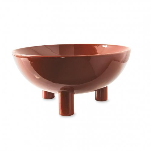 LIFT Centerpiece ceramic GLOSSY RUST BROWN