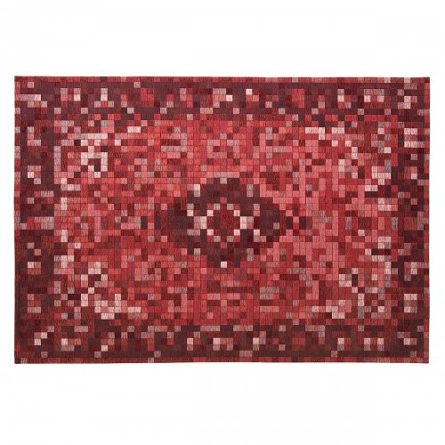 PIXI Rug chenille/cotton VARIOUS SHADES OF BURGUNDY