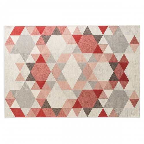 ESAGONO Rug chenille/cotton VARIOUS SHADES OF GREY/ VARIOUS SHADES OF PINK
