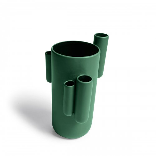 TUBINI Vase ceramic MATT FOREST GREEN
