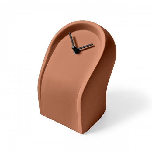 OSVALDO Clock ceramic MATT BRICK RED