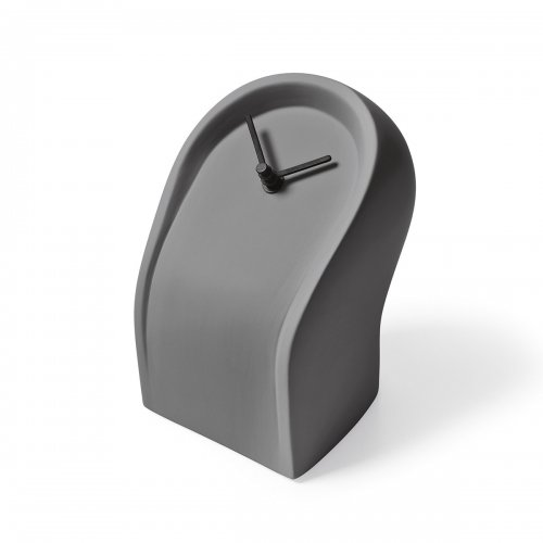 OSVALDO Clock ceramic MATT SMOKE GREY