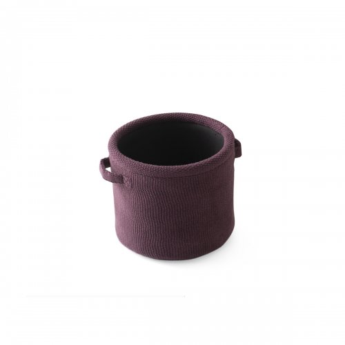 JAR Storage box cotton BURGUNDY RED