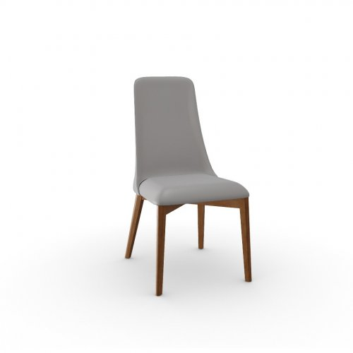 ETOILE Frame P201 bch. WALNUT  Seat D04 soft leather TAUPE