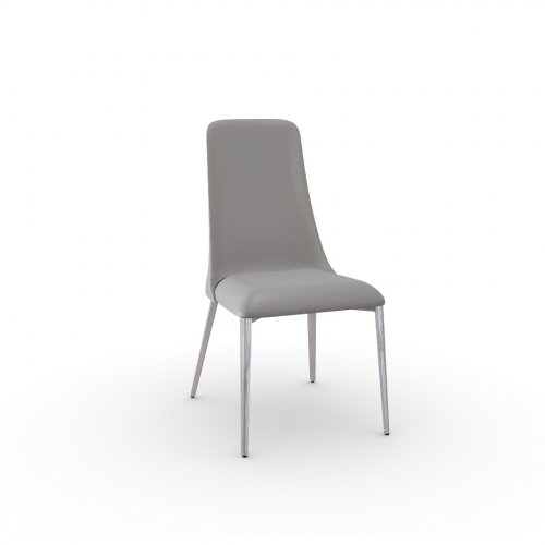 ETOILE Frame P77 met. CHROMED  Seat D04 soft leather TAUPE