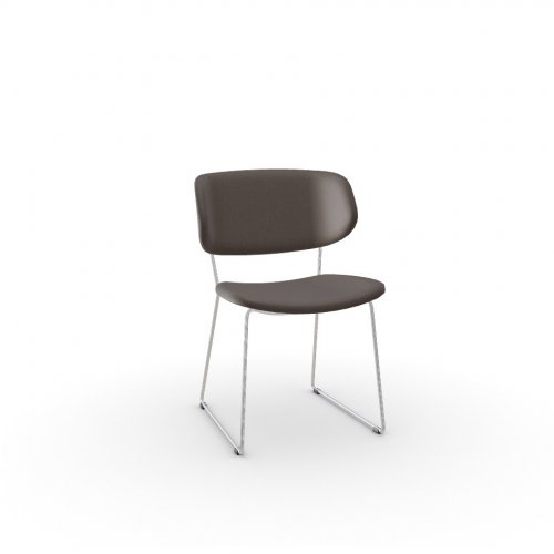 CLAIRE M Frame P77 met. CHROMED  Seat S95 Skuba TAUPE