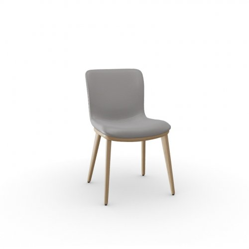 ANNIE Frame P19W ash. NATURAL OAK  Seat D04 soft leather TAUPE