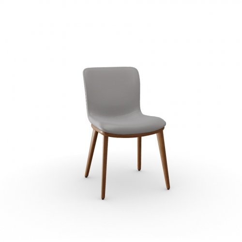 ANNIE Frame P201 ash. WALNUT  Seat D04 soft leather TAUPE