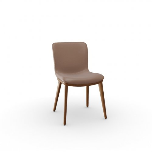 ANNIE Frame P201 ash. WALNUT  Seat L01 soft leather ANTELOPE BROWN