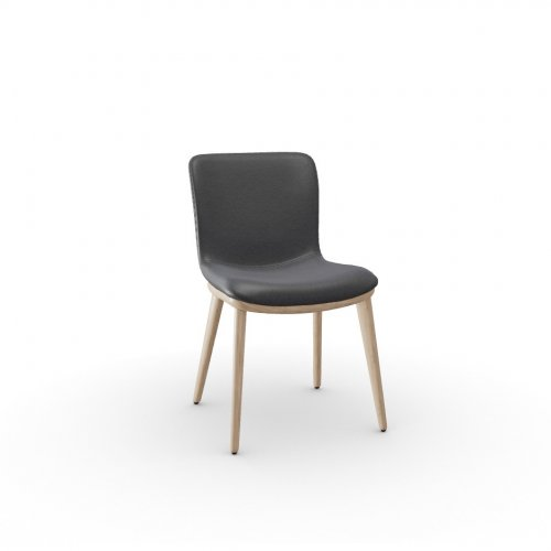 ANNIE Frame P27 ash. NATURAL  Seat L16 soft leather GREY