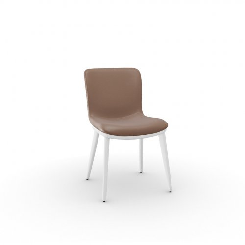 ANNIE Frame P507 ash. BRUSHED OPTIC WHITE  Seat L01 soft leather ANTELOPE BROWN