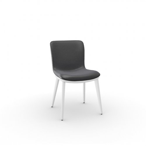 ANNIE Frame P507 ash. BRUSHED OPTIC WHITE  Seat L16 soft leather GREY