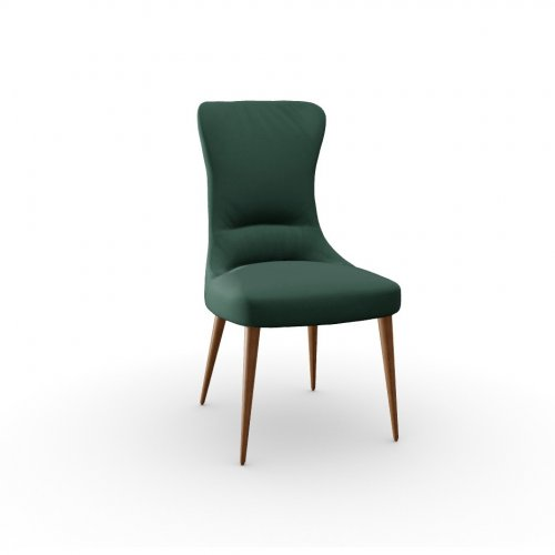 ROSEMARY Frame P201 ash. WALNUT  Seat S0H Venice FOREST GREEN