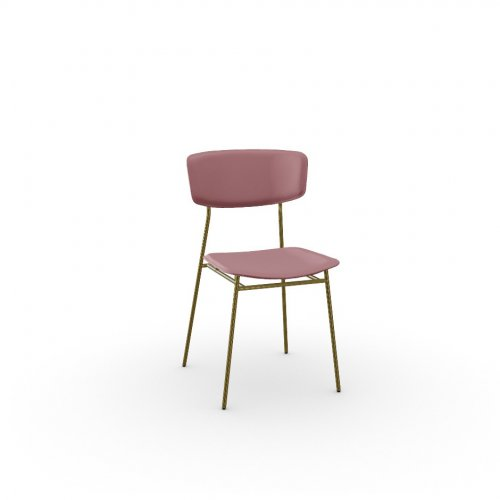 FIFTIES Frame P175 met. POLISHED BRASS  Seat S0U Venice PINK