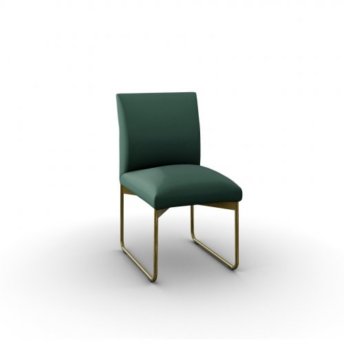 GALA Frame P175 met. POLISHED BRASS  Seat S0H Venice FOREST GREEN