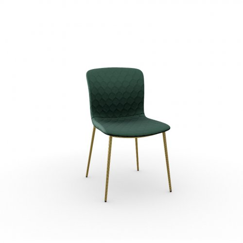 LOVE Frame P175 met. POLISHED BRASS  Seat S0H Venice FOREST GREEN