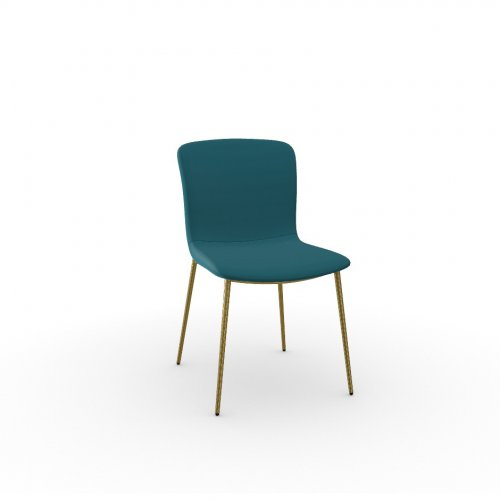 LOVE Frame P175 met. POLISHED BRASS  Seat S2M Bergen PETROL BLUE