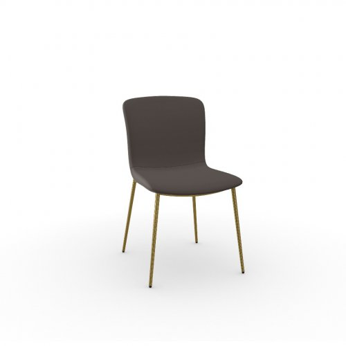 LOVE Frame P175 met. POLISHED BRASS  Seat S2N Bergen SOIL BROWN