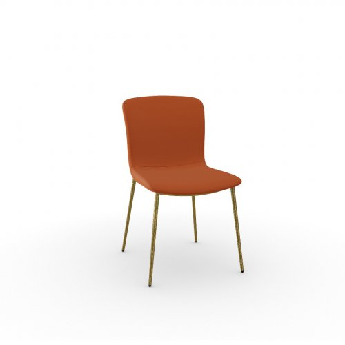LOVE Frame P175 met. POLISHED BRASS  Seat S2Q Bergen BRICK RED