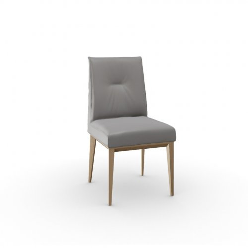 ROMY Frame P19W ash. NATURAL OAK  Seat D04 soft leather TAUPE