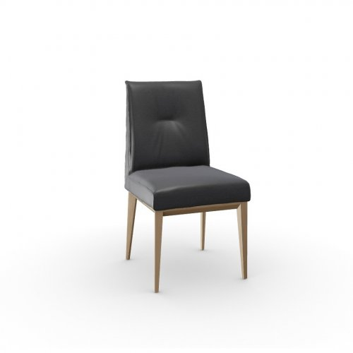 ROMY Frame P19W ash. NATURAL OAK  Seat L16 soft leather GREY