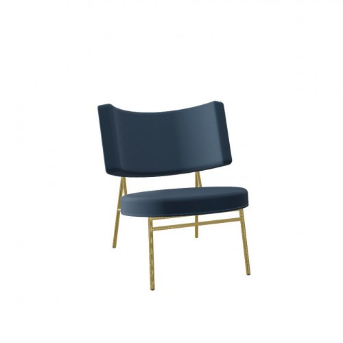 COCO Frame P175 met. POLISHED BRASS  Seat S0J Venice OCEAN BLUE