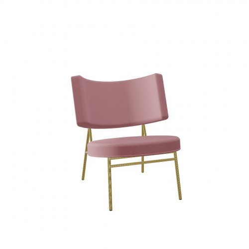COCO Frame P175 met. POLISHED BRASS  Seat S0U Venice PINK