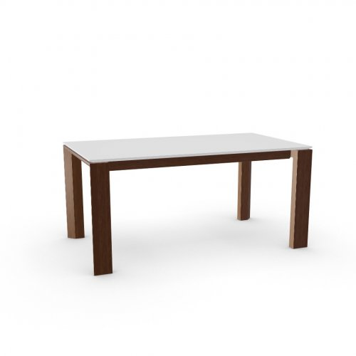 OMNIA GLASS Top GEW temp.glass FROSTED EXTRACLEAR  Frame P201 wlnt ven. WALNUT  Legs P201 wlnt ven. WALNUT