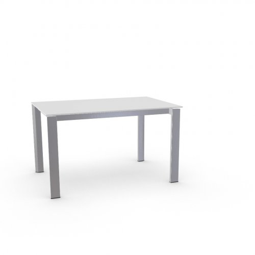 DUCA Top GEW temp.glass FROSTED EXTRACLEAR  Frame P95 met. SATIN FINISHED STEEL  Legs P95 met. SATIN FINISHED STEEL