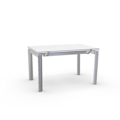 ESTESO Top P2C ceramic (g) WHITE MARBLE  Frame P95 met. SATIN FINISHED STEEL  Legs P95 met. SATIN FINISHED STEEL