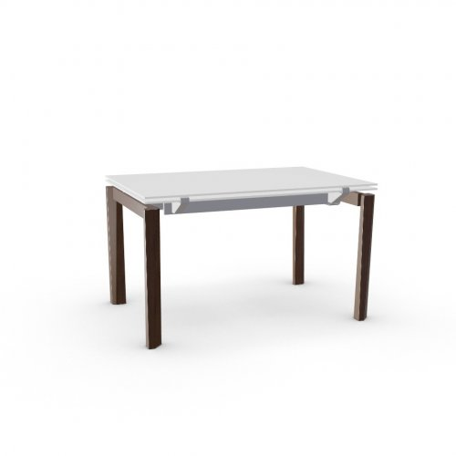 ESTESO WOOD Top GEW temp.glass FROSTED EXTRACLEAR  Frame P176 met. MATT TAUPE  Legs P12 ash. SMOKE