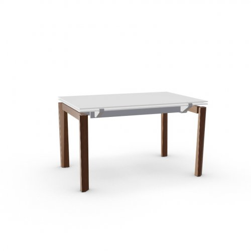 ESTESO WOOD Top GEW temp.glass FROSTED EXTRACLEAR  Frame P176 met. MATT TAUPE  Legs P201 ash. WALNUT