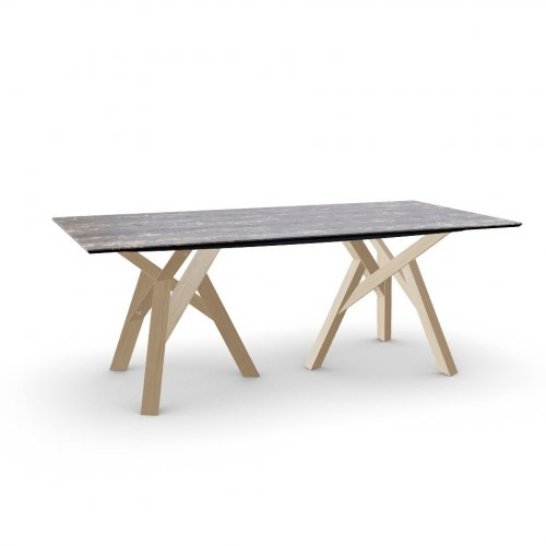JUNGLE Top P3C ceramic (g) BLACK MARBLE  Frame P19W ash. NATURAL OAK  Legs P19W ash. NATURAL OAK