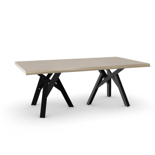 JUNGLE Top P19W oak ven. NATURAL OAK  Frame P15L ash. MATT BLACK  Legs P15L ash. MATT BLACK