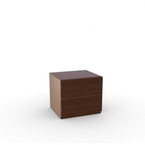 CITY Frame P201 wlnt ven. WALNUT  Drawers P201 wlnt ven. WALNUT  Top GK temp.glass FROSTED COFFEE
