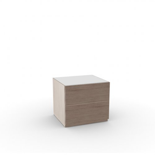 CITY Frame P27 ven.fin. NATURAL  Drawers P27 ven.fin. NATURAL  Top GEW temp.glass FROSTED EXTRACLEAR