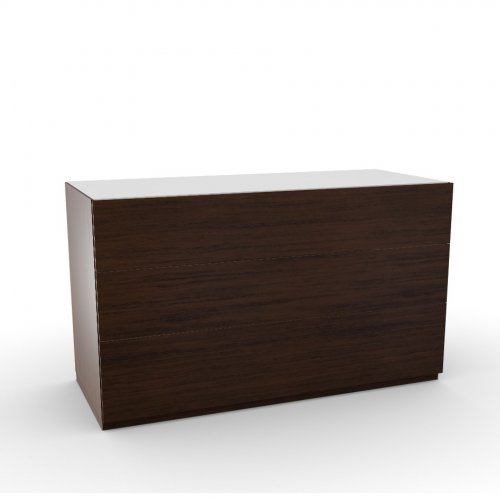 CITY Frame P12 ven.fin. SMOKE  Drawers P12 ven.fin. SMOKE  Top GEW temp.glass FROSTED EXTRACLEAR