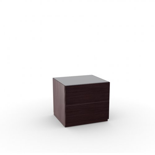 CITY Frame P128 ash ven. WENGE  Drawers P128 ash ven. WENGE  Top GTA temp.glass FROSTED TAUPE