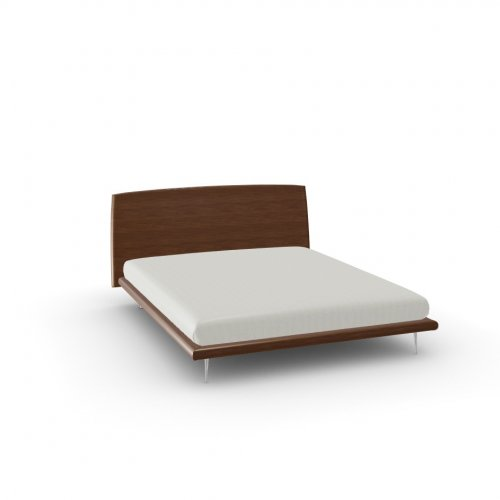 DIXIE Frame P201 wlnt ven. WALNUT  Headboard P201 wlnt ven. WALNUT  Feet P74 al. POLISHED ALUMINIUM