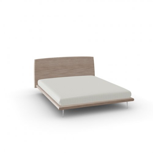 DIXIE Frame P27 ven.fin. NATURAL  Headboard P27 ven.fin. NATURAL  Feet P74 al. POLISHED ALUMINIUM
