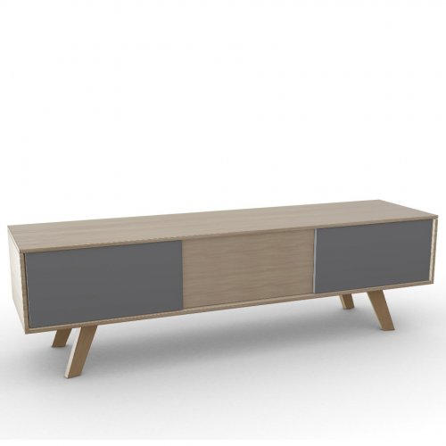 ADAM Frame P19W oak ven. NATURAL OAK  Drawers P176 lacq. MATT TAUPE  Base P19W ash. NATURAL OAK