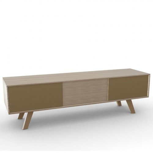 ADAM Frame P19W oak ven. NATURAL OAK  Drawers P328 lacq. MATT NOUGAT  Base P19W ash. NATURAL OAK