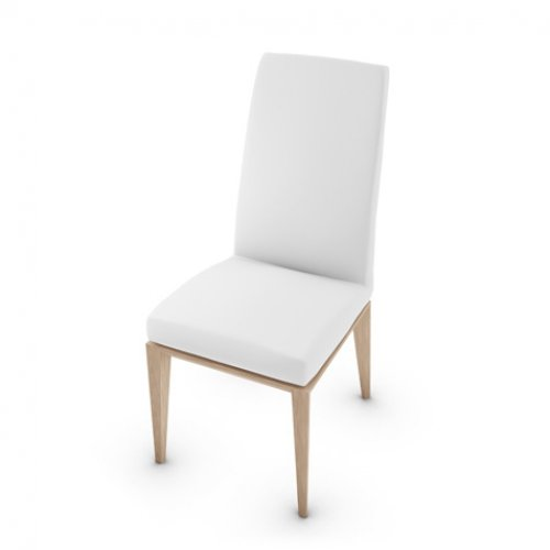 CS1294-LH BESS Frame P27 ash. NATURAL Seat 705 soft leather OPTIC WHITE