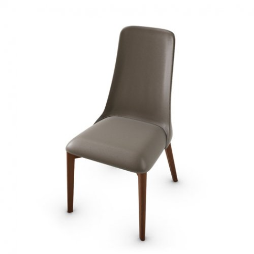 CS1423-LH ETOILE Frame P201 bch. WALNUT Seat D04 soft leather TAUPE