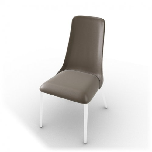 CS1424-LH ETOILE Frame P77 met. CHROMED Seat D04 soft leather TAUPE