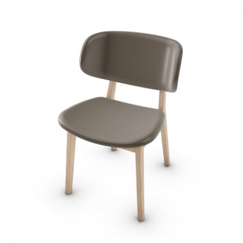 CS1443-LH CLAIRE Frame P27 ash. NATURAL Seat D04 soft leather TAUPE