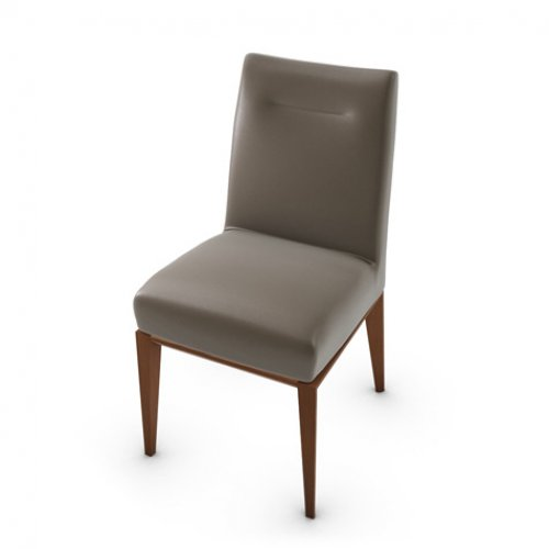 CS1490-LH TOSCA Frame P201 bch. WALNUT Seat D04 soft leather TAUPE