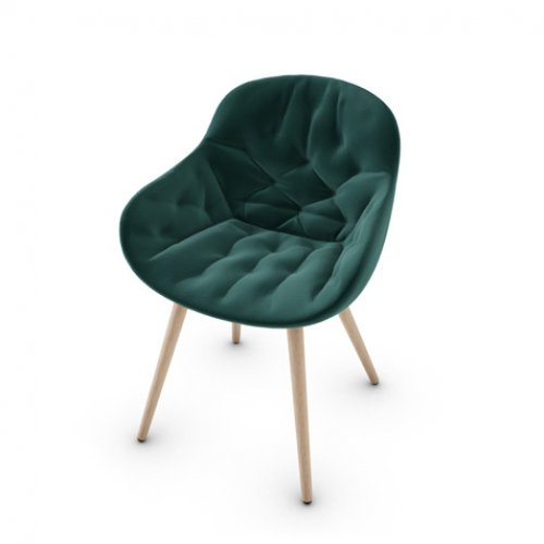 CS1841 IGLOO SOFT Frame P27 ash. NATURAL Seat S0H Venice FOREST GREEN